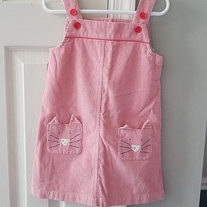 Mini Boden Kitty Cat Corduroy Dress